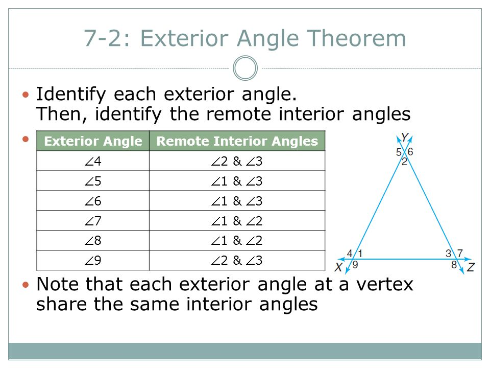 72 Exterior Angle Theorem ppt video online download – Exterior Angle Theorem Worksheet