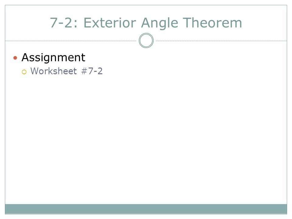72 Exterior Angle Theorem ppt download – Exterior Angle Theorem Worksheet