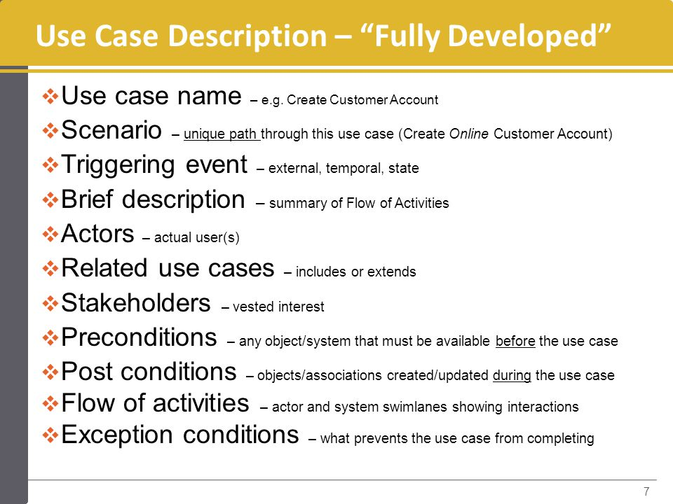 how to create use cases