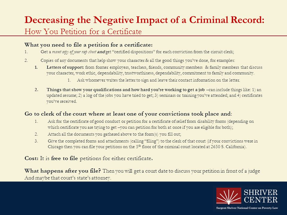 an introduction to the effects of a criminal record The role of a criminal record check in balancing risk management and reintegration  it has material effects  criminal record 152 65 introduction to the.