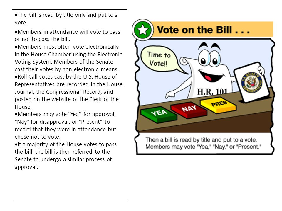 The bill is read by title only and put to a vote.
