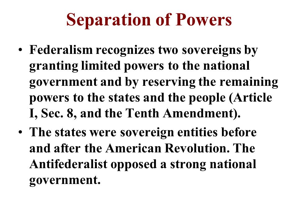 federalist view of changing the articles The united states constitution: federalists v familiar with the failure of the articles of anti-federalists write from the point of view of the.