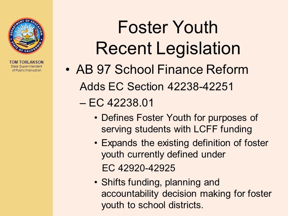 5 Foster Youth Recent Legislation