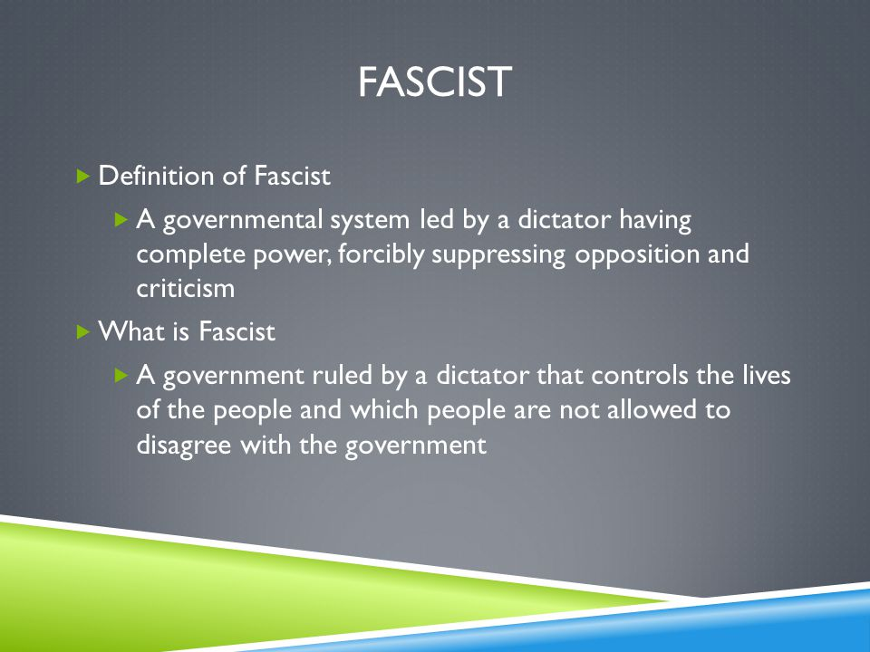 Fascist Definition of Fascist