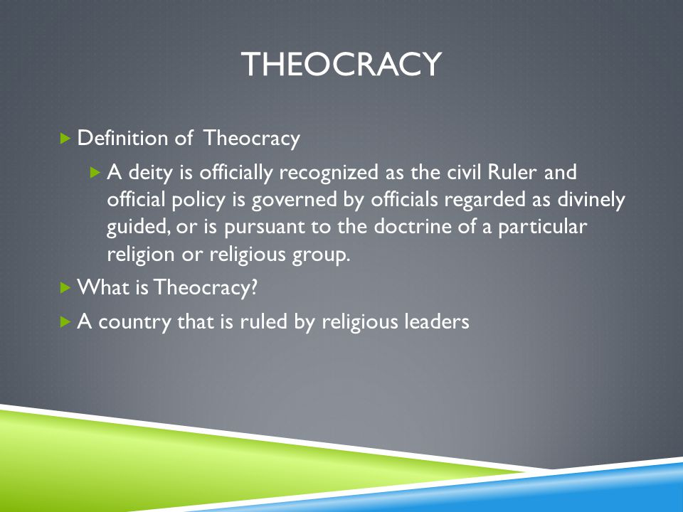Theocracy Definition of Theocracy