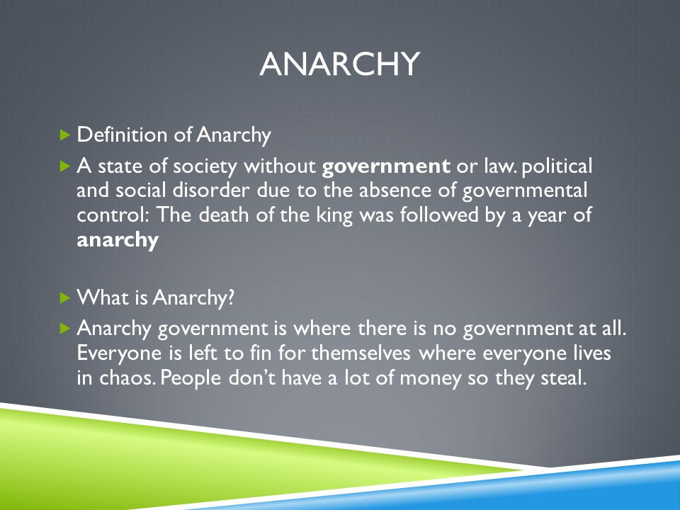 anarchy Definition of Anarchy