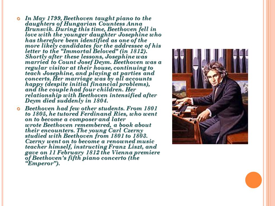 the early encounters of ludwig van beethoven with music Beethoven's epochal career is often divided into early, middle, and late periods, represented, respectively, by works based on classic-period models, by revolutionary pieces that expanded the vocabulary of music, and by compositions written in a unique, highly personal musical language incorporating elements of contrapuntal and variation.
