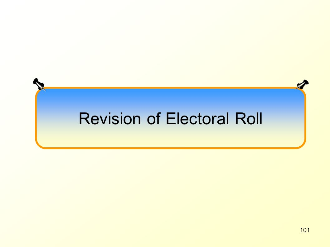 Revision of Electoral Roll