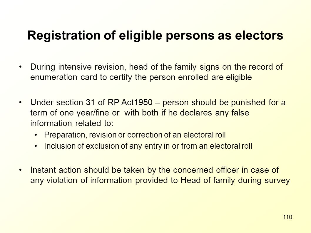 Registration of eligible persons as electors