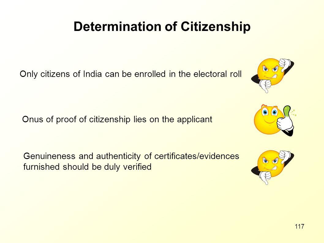 Determination of Citizenship