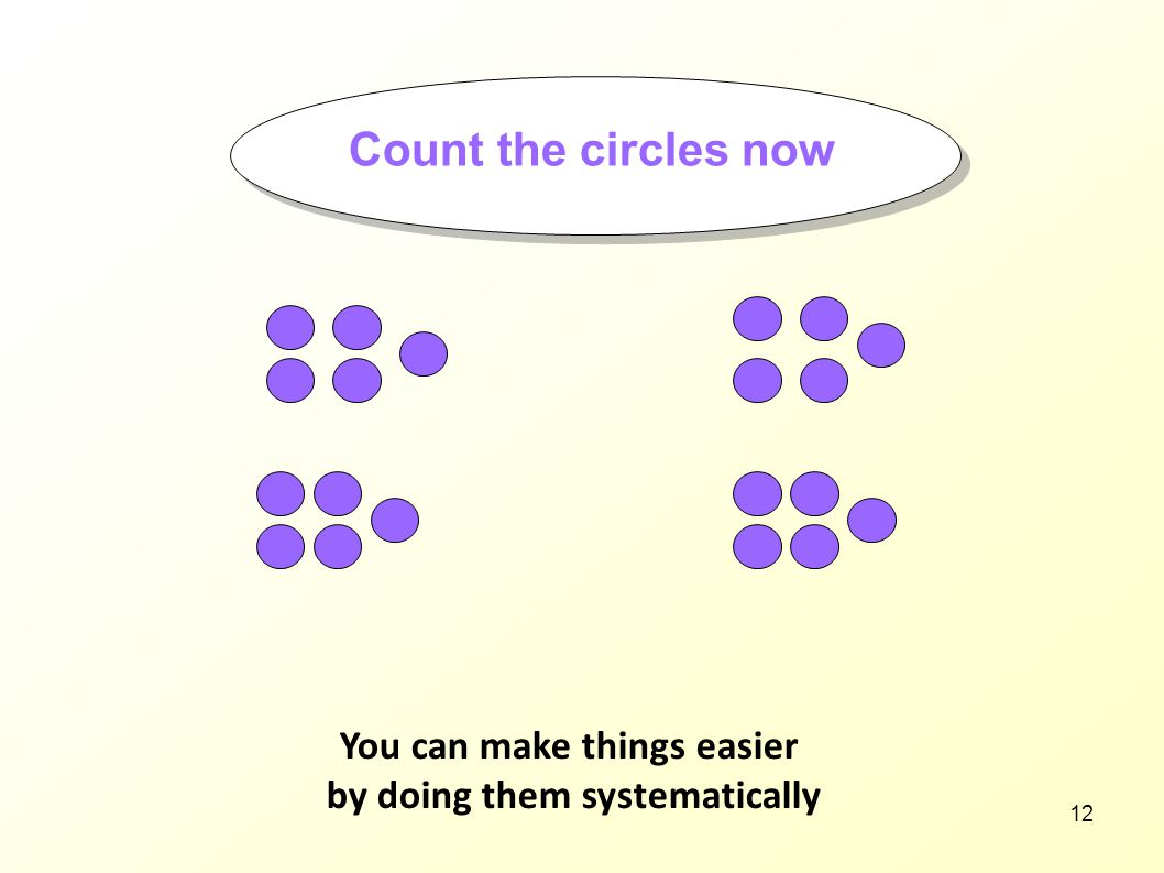 You can make things easier by doing them systematically