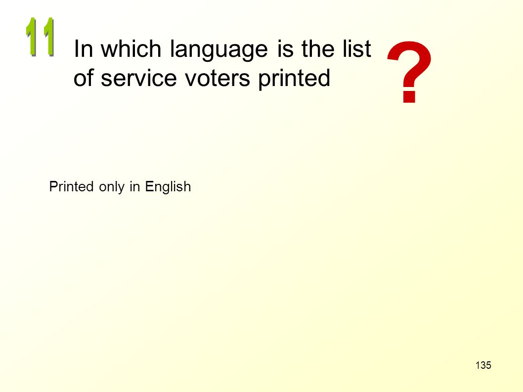 In which language is the list of service voters printed