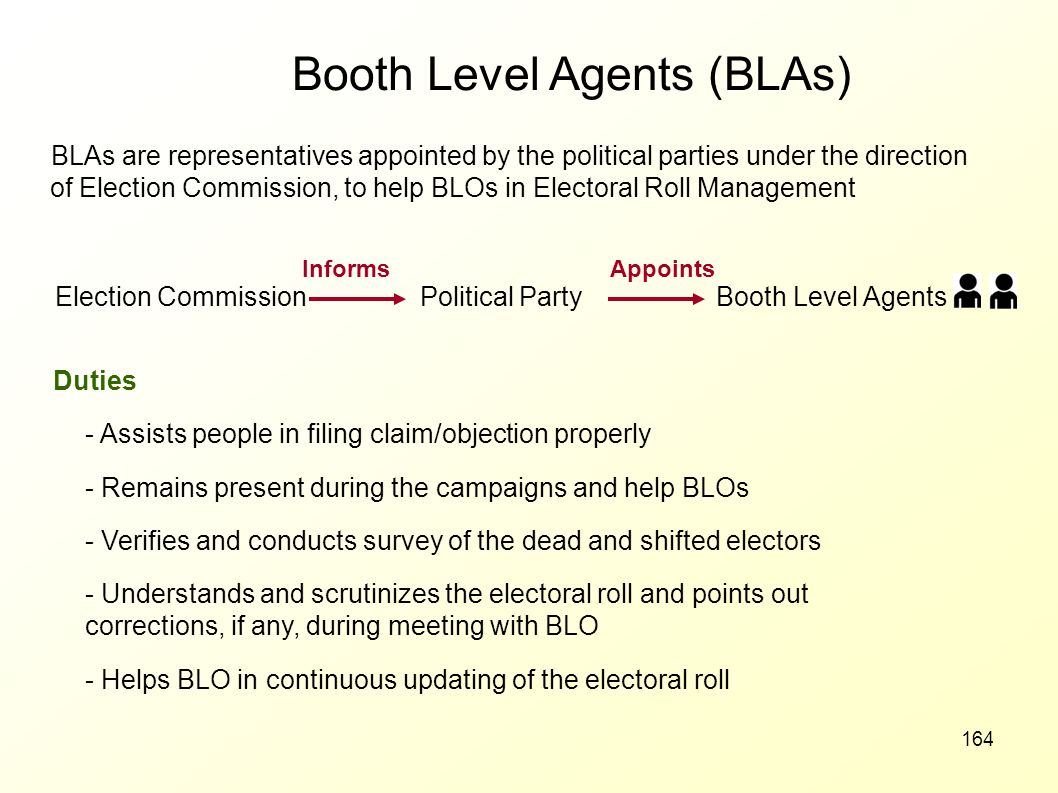 Booth Level Agents (BLAs)