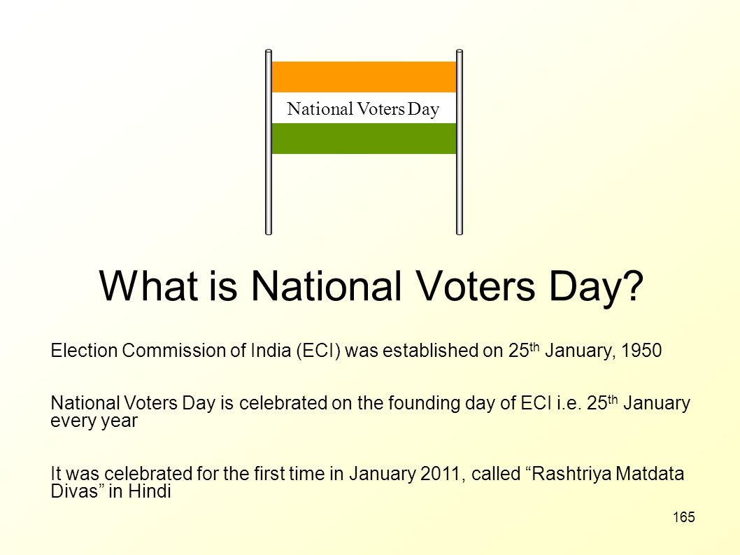 What is National Voters Day