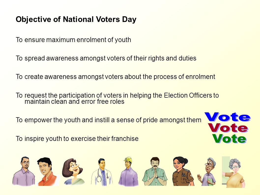Vote Objective of National Voters Day