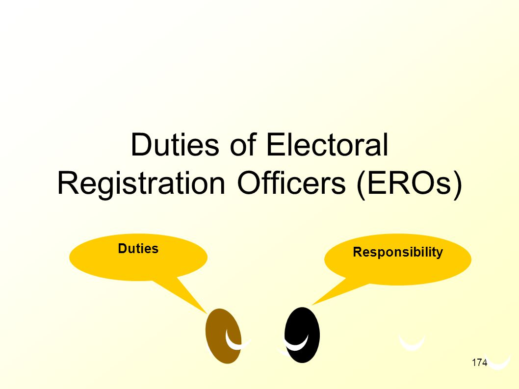 Duties of Electoral Registration Officers (EROs)