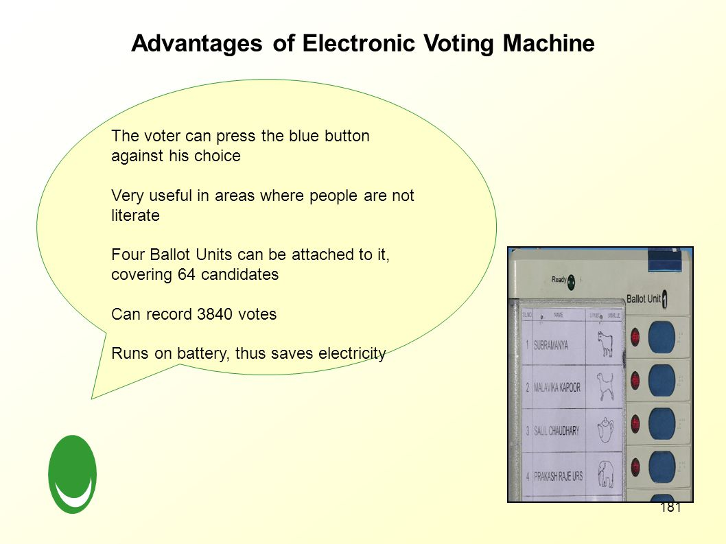 Advantages of Electronic Voting Machine