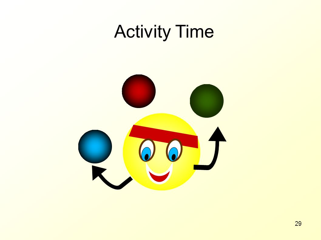 Activity Time 70 MINUTES Notes: