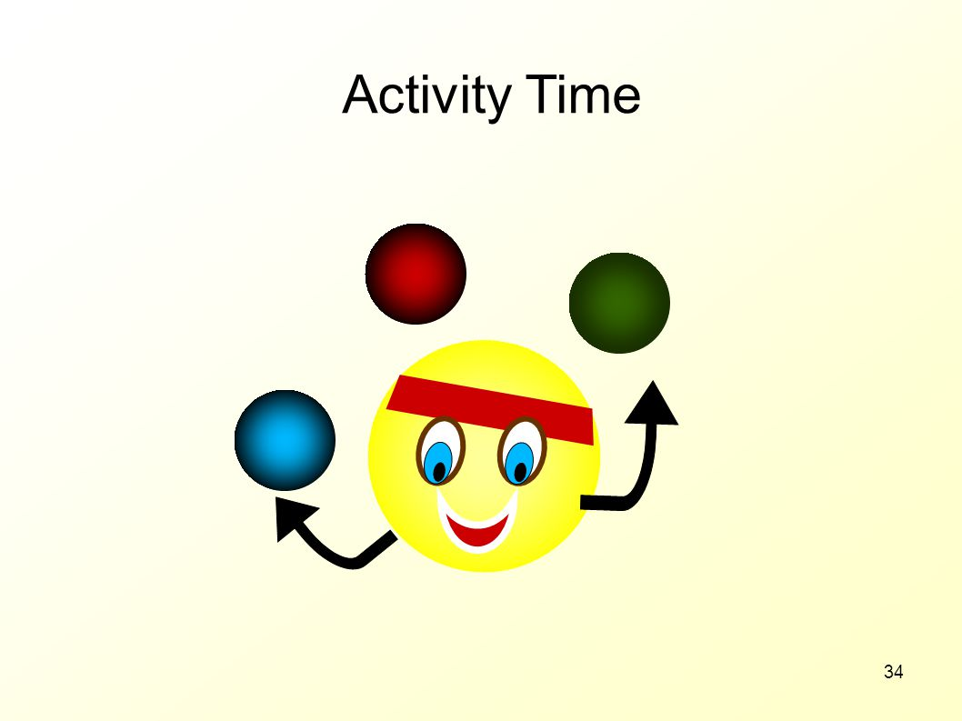 Activity Time 30 MINUTES Notes: Role play exercise from the workbook –