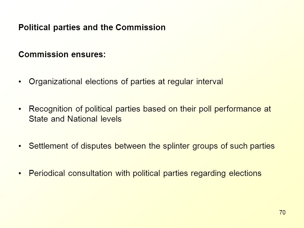 Political parties and the Commission