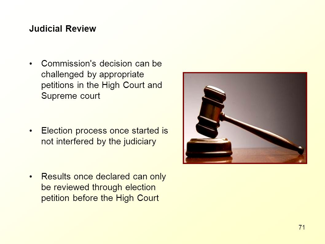 Judicial Review Commission s decision can be challenged by appropriate petitions in the High Court and Supreme court.