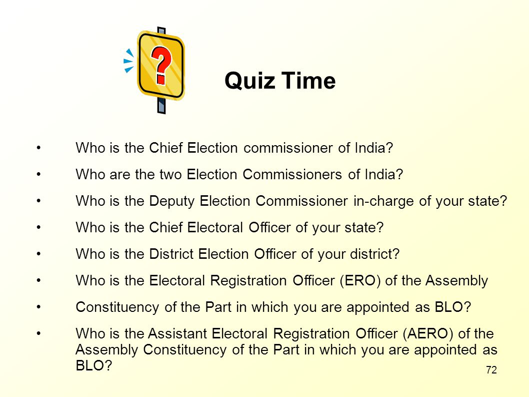 Quiz Time Who is the Chief Election commissioner of India