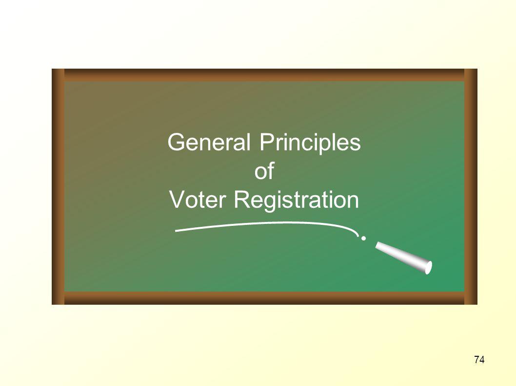General Principles of Voter Registration