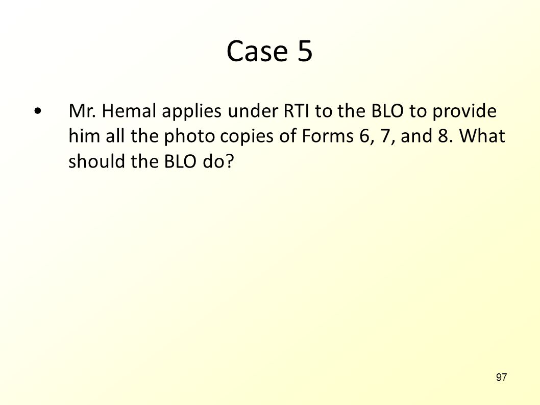 Case 5 Mr.