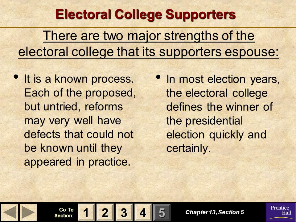 Reform of electoral college
