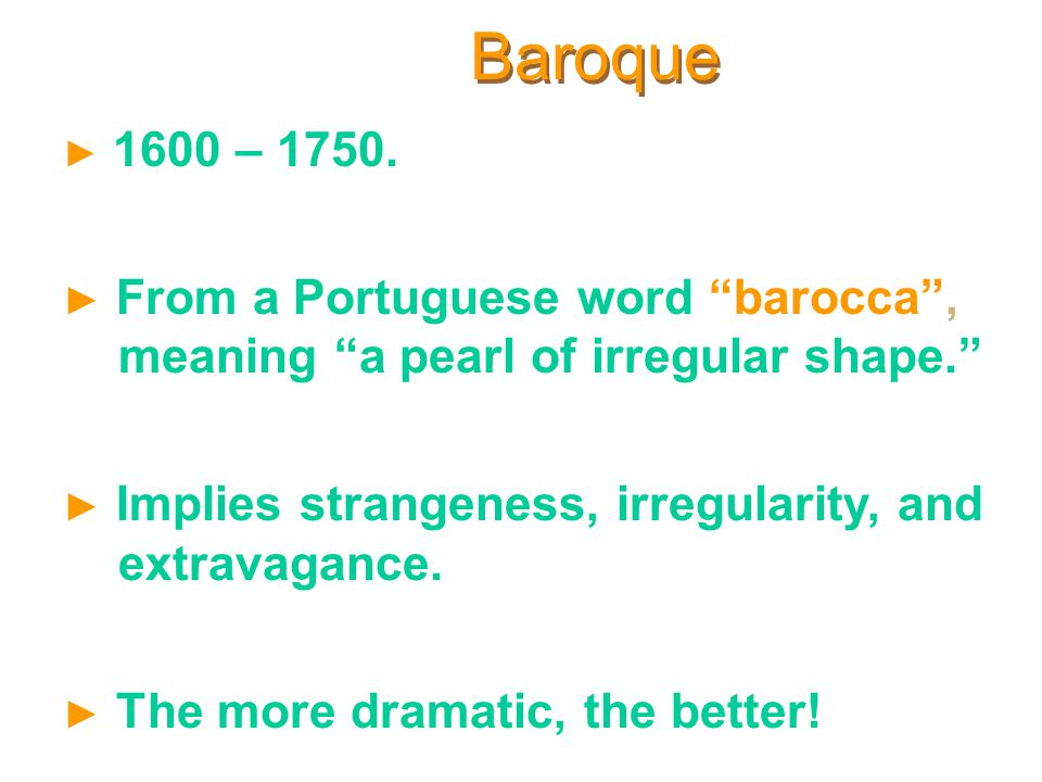 origin of the word baroque Rococo was our word of the day on 04/26 from elegant rococo music of the baroque to the glorious orchestral sound of the 19th origin and etymology of rococo.