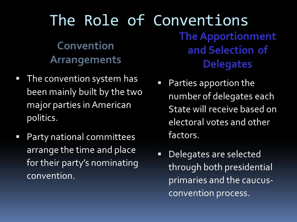 The Presidential Nominating Process And The National Party ...