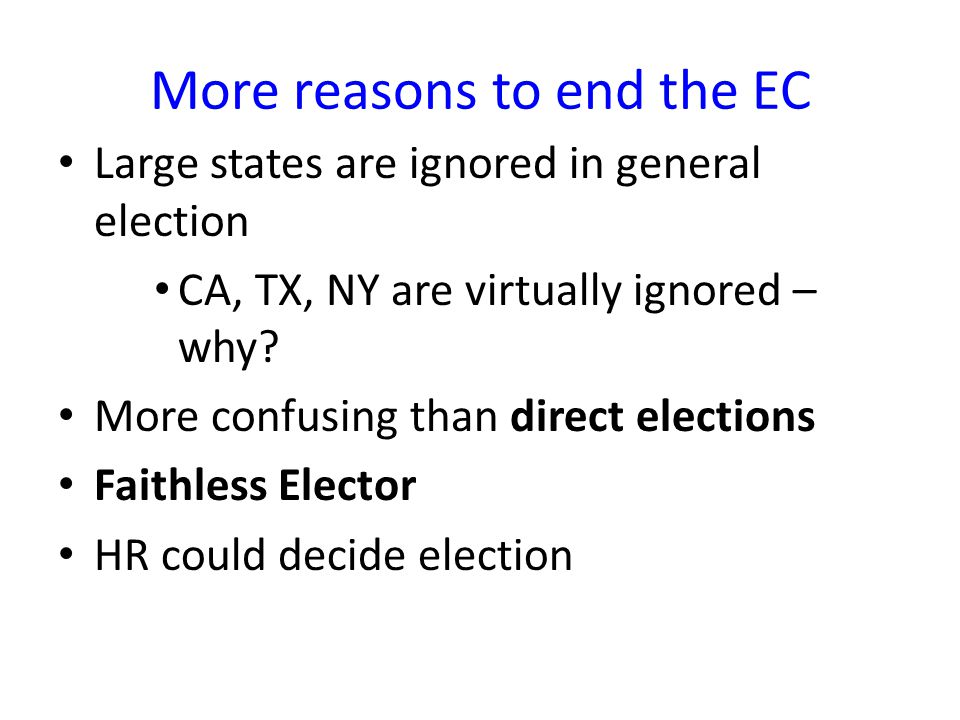 the electoral college should be revised essay Electoral college political debate electoral college essay civics the electoral college is the nation why the electoral college should be abolished and revised.