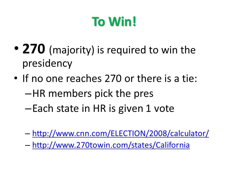 presidential election calculator