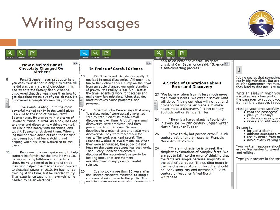 passage essays Just like there is more than one way to skin a cat (or so they say), there is more  than one way to write an essay one is not required to produce a.