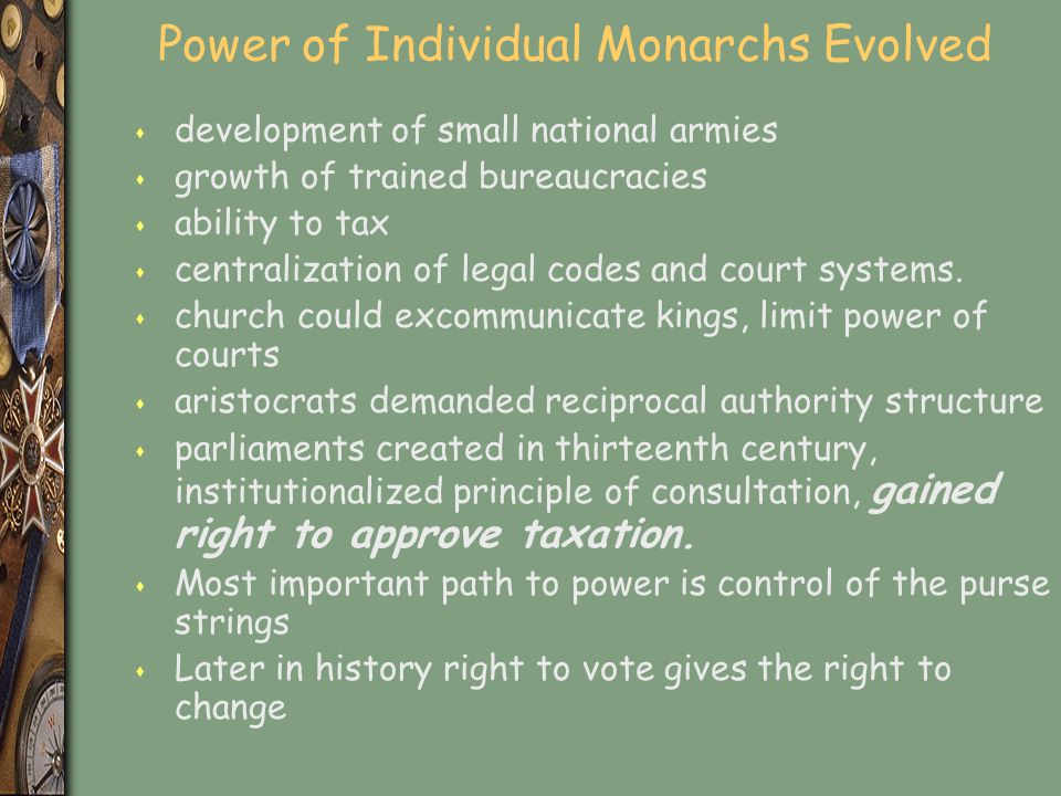 Power of Individual Monarchs Evolved