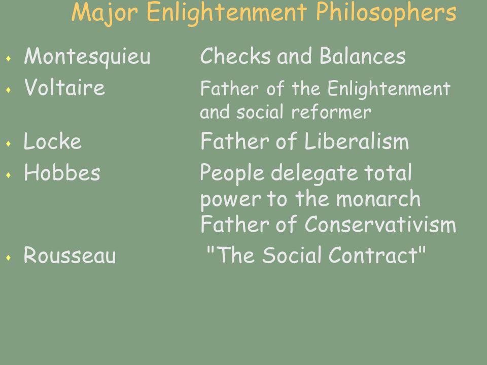 Major Enlightenment Philosophers