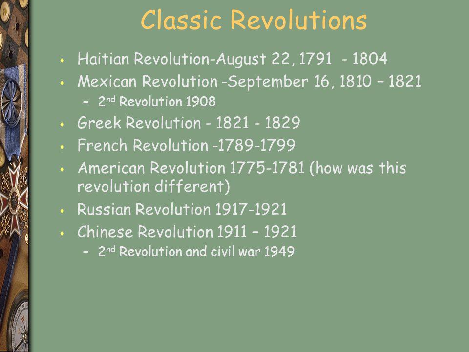 Classic Revolutions Haitian Revolution-August 22, 1791 - 1804