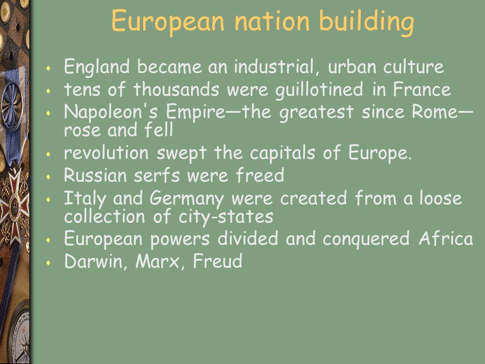 European nation building