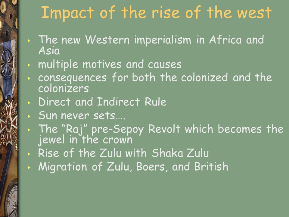 Impact of the rise of the west