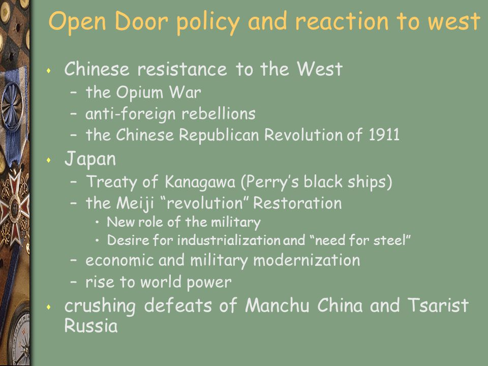 Open Door policy and reaction to west