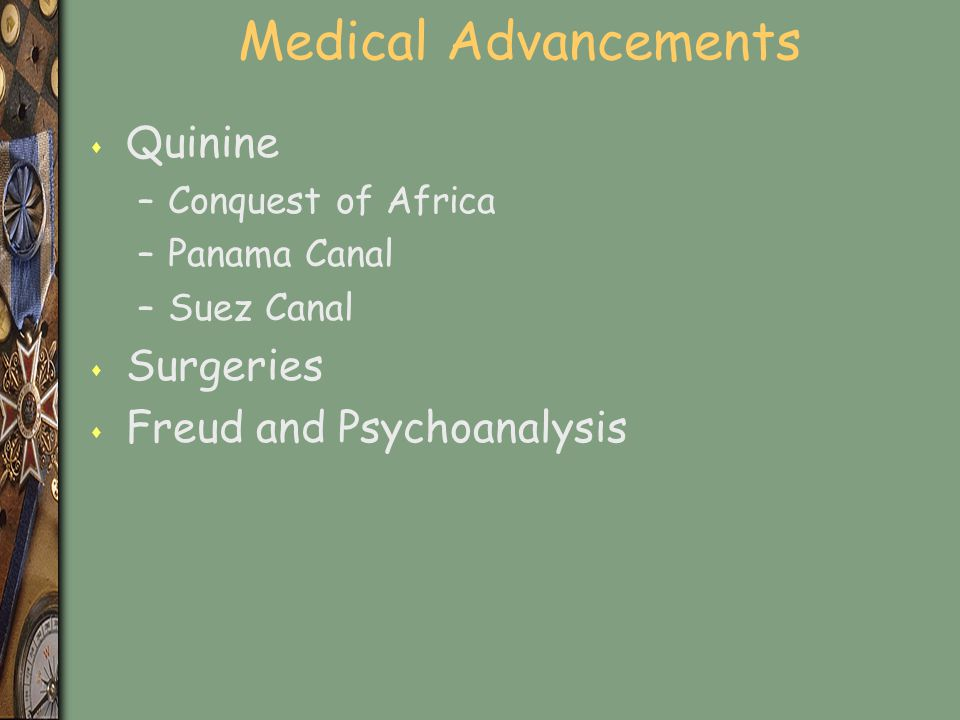 Medical Advancements Quinine Surgeries Freud and Psychoanalysis