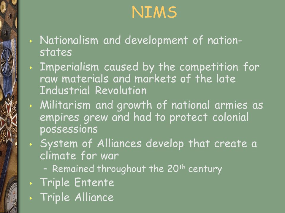 NIMS Nationalism and development of nation-states