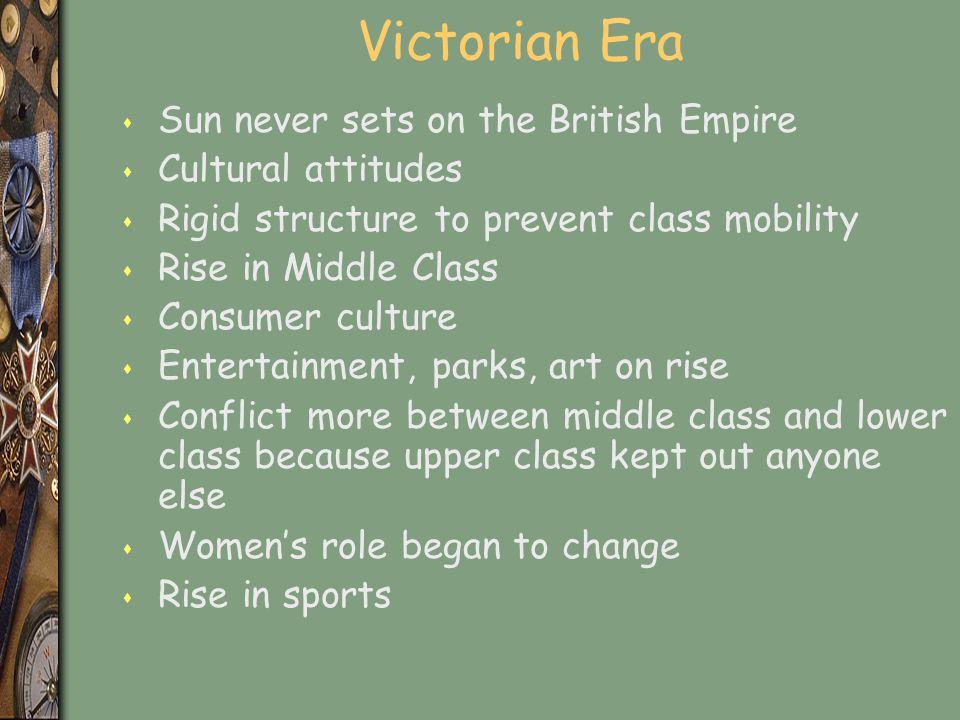 Victorian Era Sun never sets on the British Empire Cultural attitudes