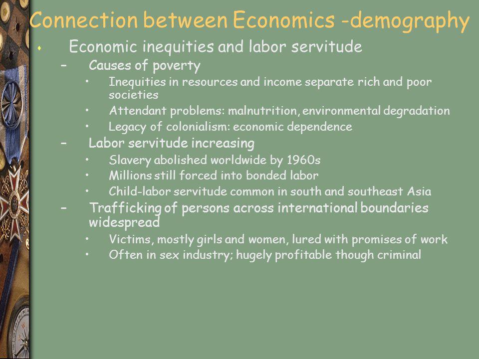 Connection between Economics -demography