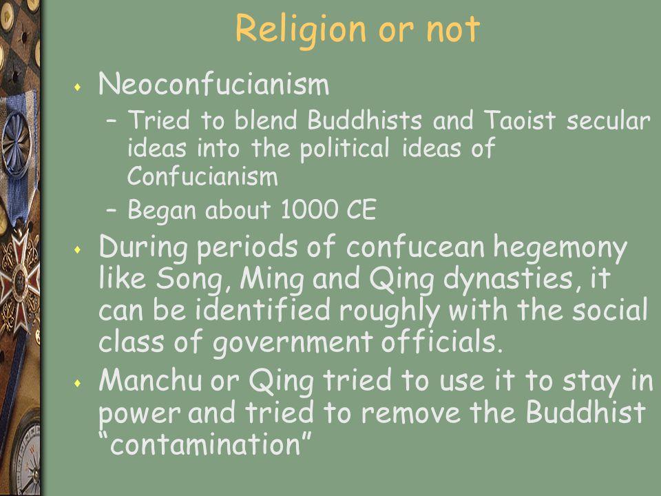 Religion or not Neoconfucianism