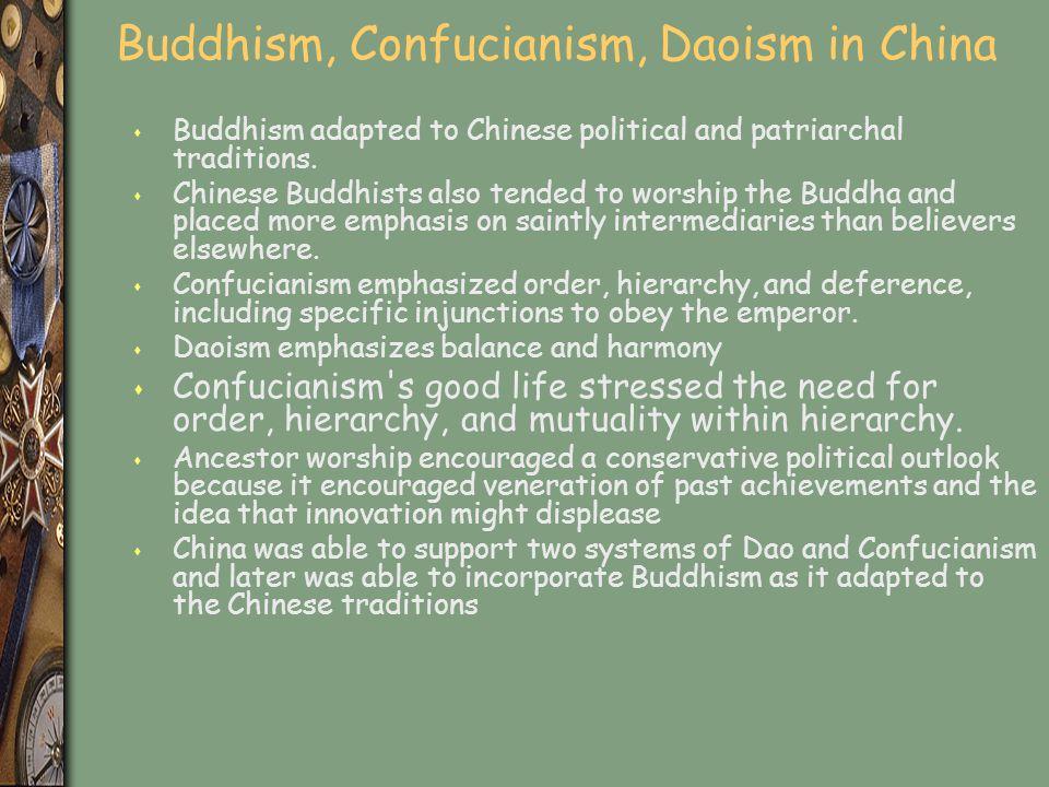 Buddhism, Confucianism, Daoism in China
