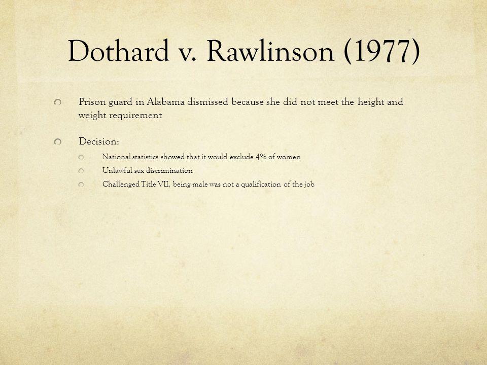 dothard v rawlinson