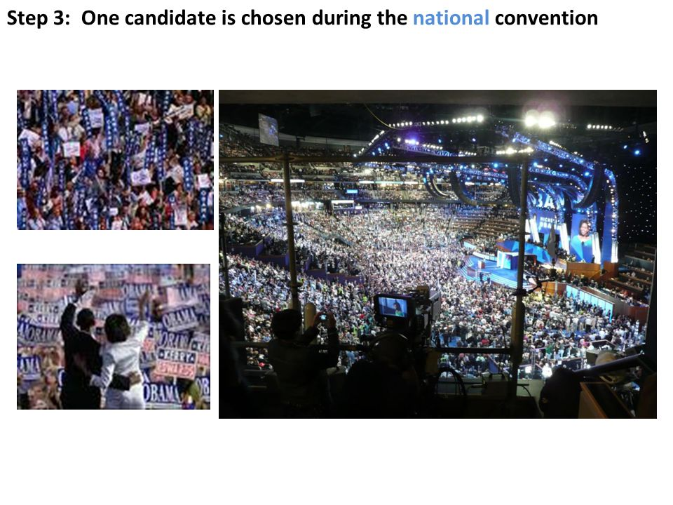 Step 3: One candidate is chosen during the national convention