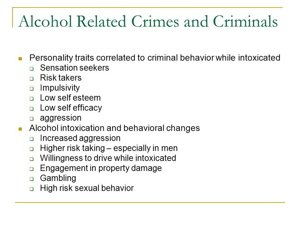 alcohol and crime relationship