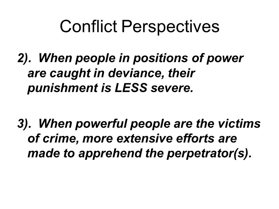 conflict perspectives Free essay: functionalist, conflict, and interaction perspectives on mass media sammie sims soc101: introduction to.